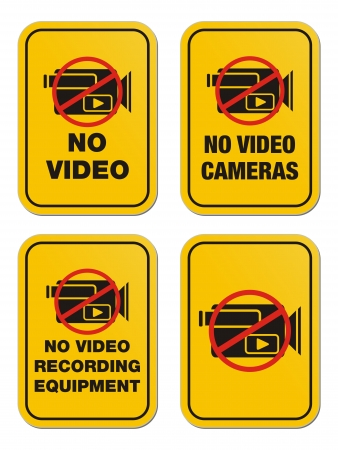 exclusion: no video yellow signs