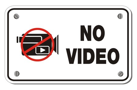 banned: no video rectangle sign Illustration