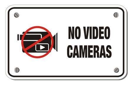 no video cameras rectangle sign Vector