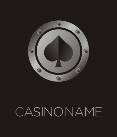 gambling chip: spades casino poster, backdrop, plakat, background, banner
