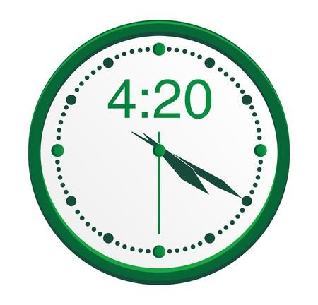 4 20 de reloj Foto de archivo - 22466759