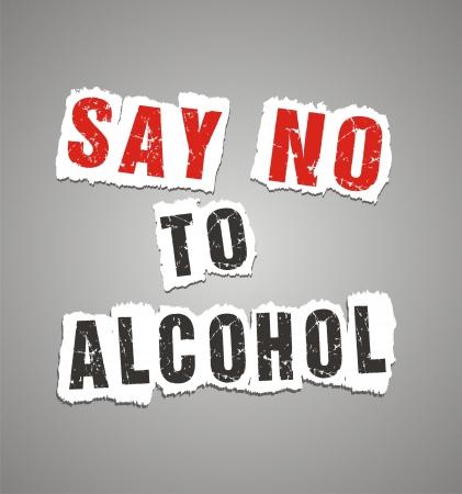 알코올 포스터에 '아니오'라고 일러스트
