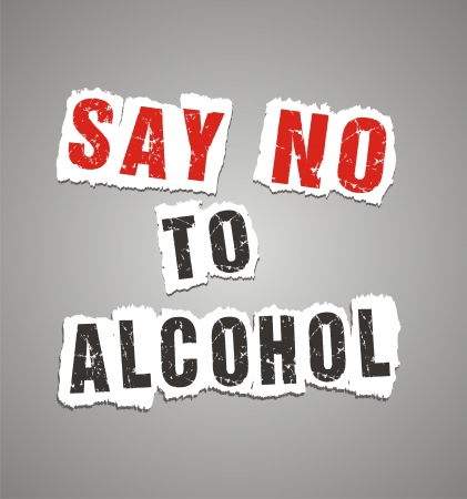 say no to alcohol poster Vector