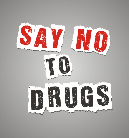 to say: say no to drugs poster Illustration