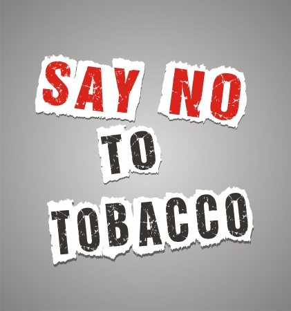 say no to tobacco poster Vector