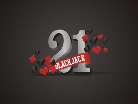playing card symbols: 21, blackjack cartel, tel�n de fondo, con el juego de s�mbolos de la tarjeta