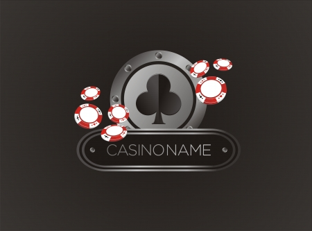 club with poker chips, poster, banner, backdrop, backdrop Vector