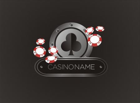 hold'em: club with poker chips, poster, banner, backdrop, backdrop