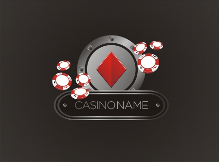 las: diamond with poker chips, poster, banner, backdrop, backdrop