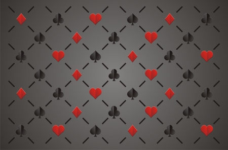 ace of clubs: clubs , diamonds , hearts and spades, elegant seamless pattern