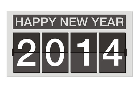 compliments: happy new year 2014 - flipper clock