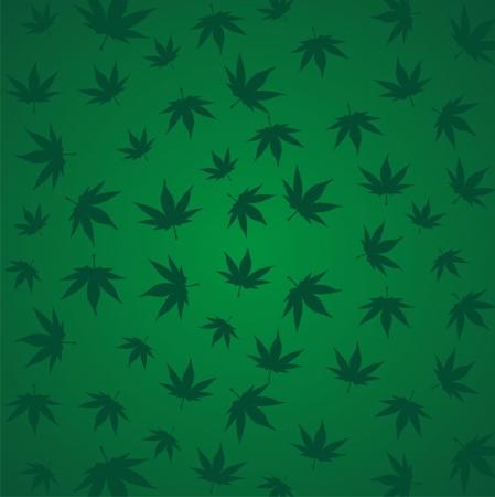 marijuana, canabis, ganja pattern Vector