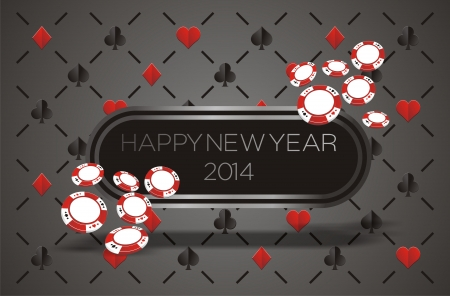 new year 2014 - casino concept Vector