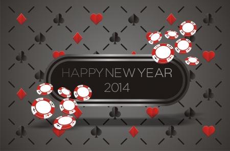 new year 2014 - casino concept Stock Vector - 22509800