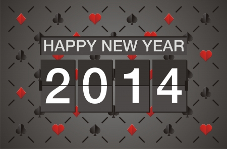 happy new year 2014 - casino concept Stock Vector - 22509594