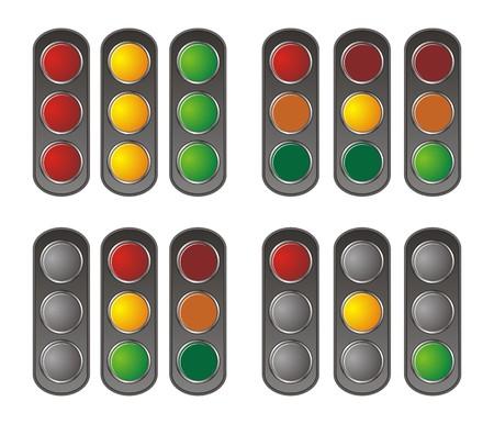 vertical traffic light Vector