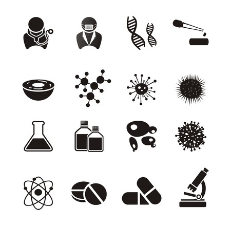 biotechnology icon sets  イラスト・ベクター素材