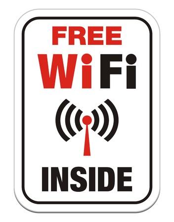 boardcast: free wi-fi inside sign