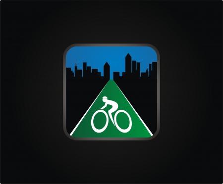 bicycle lane: bike route button