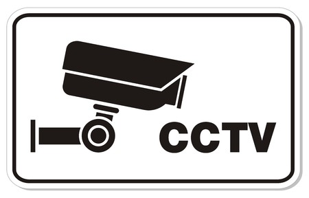 CCTV rectangle sign Vector