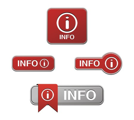 rectángulo: botón rojo info