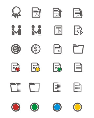 business icon sets Vector