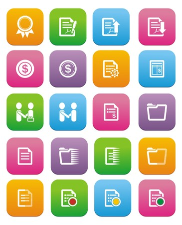 business flat style icon sets Vector