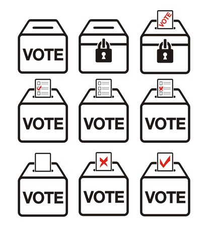voting ballot: election icons - ballot box icons