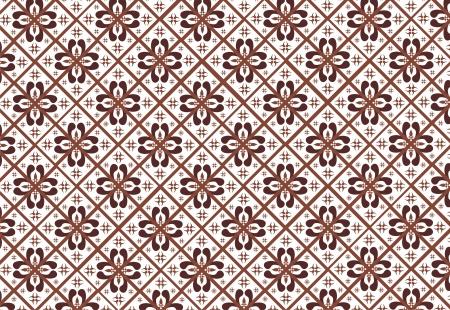 indonesian batik pattern  イラスト・ベクター素材
