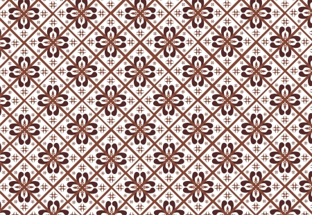 indonesian: indonesian batik pattern Illustration