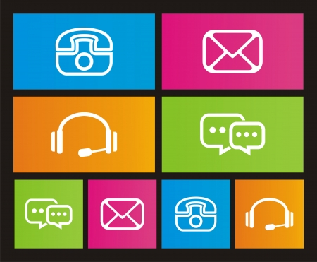 windows 8: contact icon - metro style Illustration
