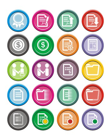 business round icon sets Vector