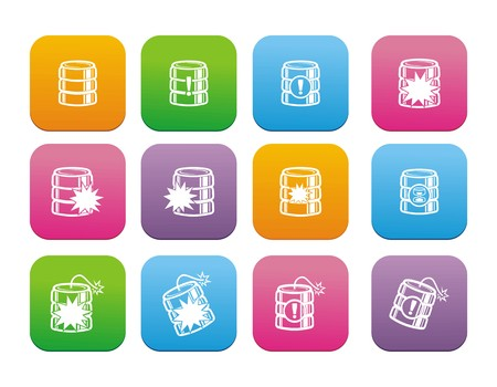 database crash flat style icon sets Vector
