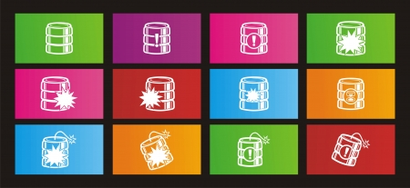 windows 8: database crash rectangle metro style icon sets