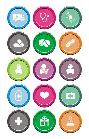 medical round icon sets Vector