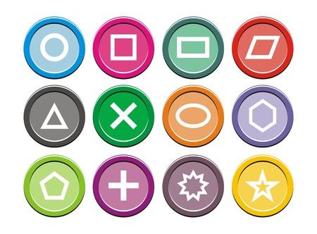 icone tonde: Forma Icone - icone rotonde Vettoriali