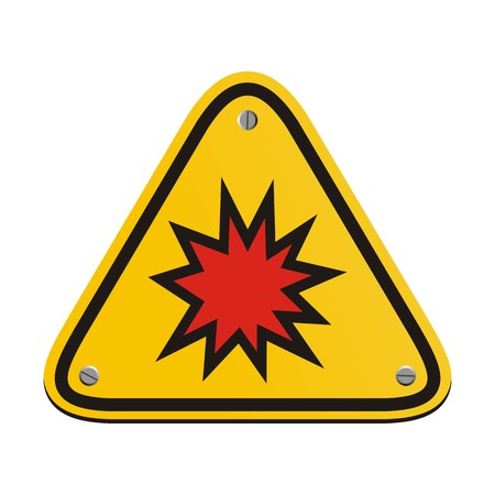 explosion risk: explosion risk - triangle sign