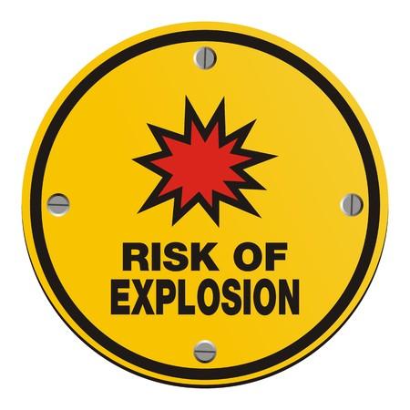 symbol vigilance: risk of explosion - round yellow sign Illustration