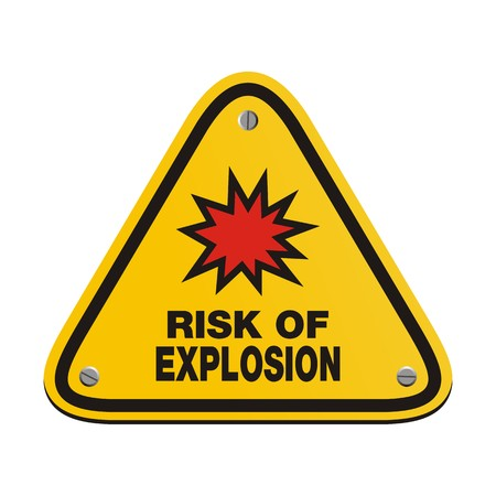 explosion risk: risk of explosion - triangle sign