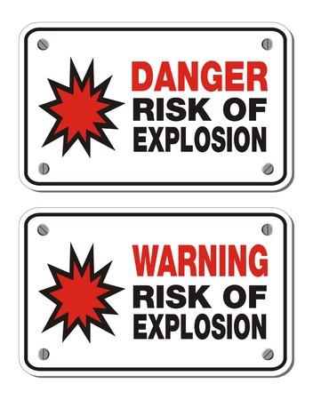 explosion risk: risk of explosion - rectangle sign