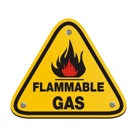 inflammable: triangle sign - flammable gas
