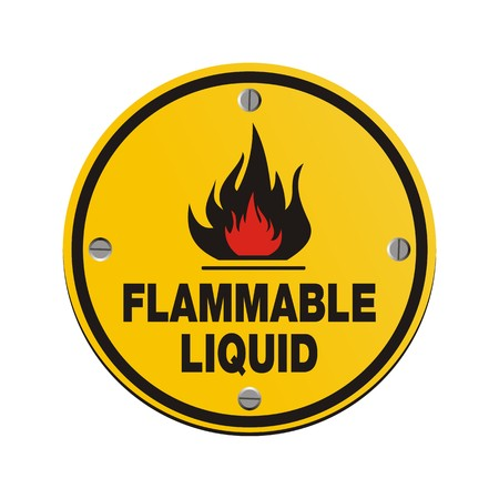 burnable: round sign -flammable liquid