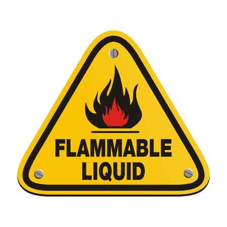 flammable: triangle sign - flammable liquid Illustration