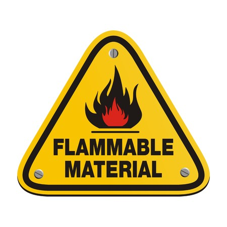 flammable: triangle sign - flammable material