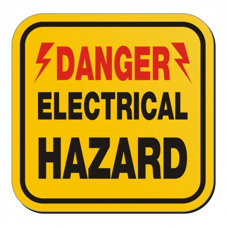 electricity danger of death: danger electrical hazard - yellow sign