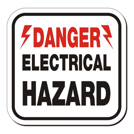 hazard sign: danger electrical hazard sign