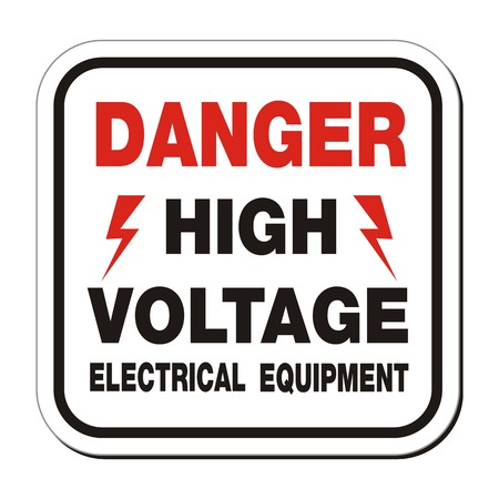 high voltage sign: danger high voltage electrical equipment sign