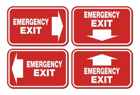 evacuacion: las señales de salida de emergencia - señal roja
