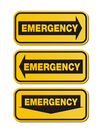 emergency signs - yellow signs Vector