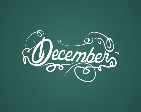 yearly: december hand lettering